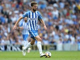 Brighton & Hove Albion midfielder Davy Propper in action during his side's Premier League clash with Manchester City on August 12, 2017