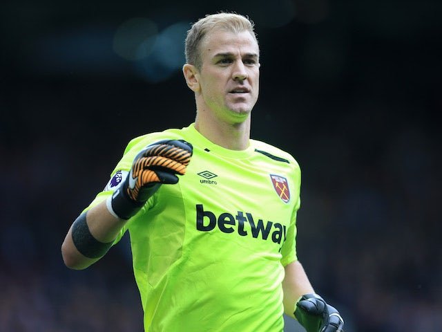 West Ham United goalkeeper Joe Hart in action during his side's Premier League clash with Manchester United on August 13, 2017