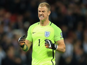 England goalkeeper Joe Hart in action during his side's World Cup qualifying clash with Slovakia on September 4, 2017