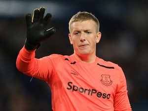 Everton goalkeeper Jordan Pickford in action during his side's Europa League clash with Hajduk Split on August 17, 2017