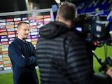 England Women manager Mark Sampson speaks to the media on September 19, 2017