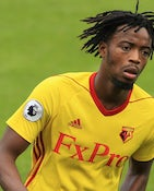 Watford midfielder Nathaniel Chalobah in action during his side's Premier League clash with Liverpool on August 12, 2017