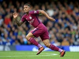 Gabriel Jesus in action during the Premier League game between Chelsea and Manchester City on September 30, 2017