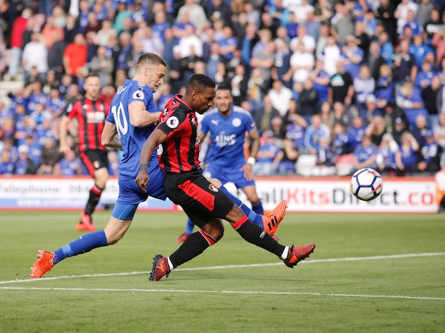 Bournemouth striker Jermain Defoe in action during his side's Premier League clash with Leicester City at the Vitality Stadium on September 30, 2017