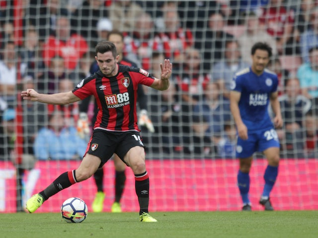 Bournemouth midfielder Lewis Cook in action during his side's Premier League clash with Leicester City at the Vitality Stadium on September 30, 2017