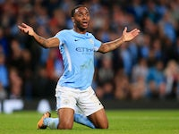 Raheem Sterling doth protest too much during the Champions League game between Manchester City and Shakhtar Donetsk on September 26, 2017