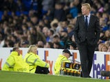 Everton manager Ronald Koeman patrols the touchline during his side's Europa League clash with Apollon Limassol at Goodison Park on September 28, 2017