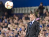 Everton manager Ronald Koeman watches on during his side's Europa League clash with Apollon Limassol at Goodison Park on September 28, 2017