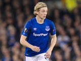 Everton midfielder Tom Davies in action during his side's Europa League clash with Apollon Limassol at Goodison Park on September 28, 2017