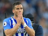 Brighton & Hove Albion striker Tomer Hemed reacts following his side's Premier League clash with Newcastle United on September 23, 2017