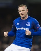 Everton striker Wayne Rooney celebrates scoring during his side's Europa League clash with Apollon Limassol at Goodison Park on September 28, 2017