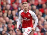 Arsenal midfielder Aaron Ramsey in action during his side's Premier League clash with Brighton & Hove Albion at the Emirates Stadium on October 1, 2017
