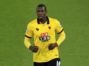 Watford midfielder Abdoulaye Doucoure in action for the Hornets