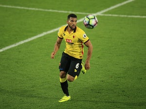 Watford defender Adrian Mariappa in action during a Premier League clash with Liverpool on May 1, 2017