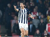 Ahmed Hegazi, also known as Ahmed Hegazy, in action for West Bromwich Albion during his side's Premier League clash with Arsenal