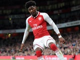 Arsenal midfielder Ainsley Maitland-Niles in action during his side's EFL Cup clash with Doncaster Rovers