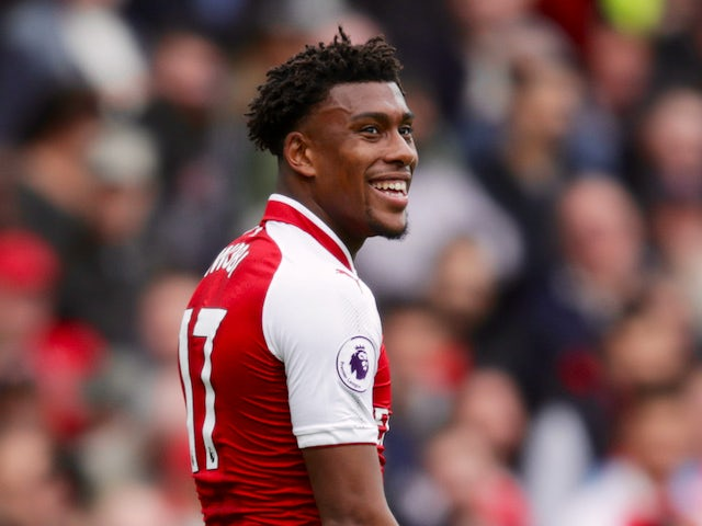 Arsenal attacker Alex Iwobi in action during his side's Premier League clash with Brighton & Hove Albion at the Emirates Stadium on October 1, 2017