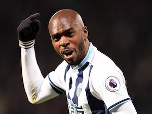 Allan Nyom in action for West Bromwich Albion during his side's Premier League clash with Watford