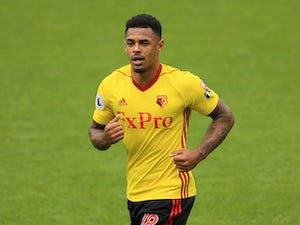 Watford striker Andre Gray in action during his side's Premier League clash with Liverpool on August 12, 2017
