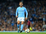 Manchester City attacker Bernardo Silva in action during his side's Premier League clash with Everton on August 21, 2017