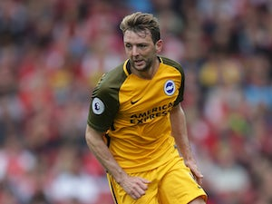 Brighton midfielder Dale Stephens in action during his side's Premier League clash with Arsenal at the Emirates Stadium on October 1, 2017