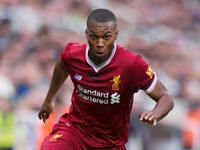 Liverpool striker Daniel Sturridge in action during his side's Premier League clash with Newcastle United at St James' Park on October 1, 2017
