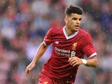 Liverpool's Dominic Solanke in action during pre-season