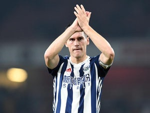 Gareth Barry in action for West Bromwich Albion during his side's Premier League clash with Arsenal