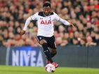 Tottenham Hotspur winger Georges-Kevin Nkoudou in action during his side's EFL Cup clash with Liverpool