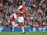 Arsenal midfielder Granit Xhaka in action during his side's Premier League clash with Brighton & Hove Albion at the Emirates Stadium on October 1, 2017