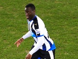 Henri Saivet in action for Newcastle United during a Premier League match against Everton in 2016