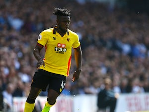 Watford striker Isaac Success in action during his side's Premier League clash with Tottenham Hotspur on April 8, 2017