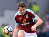 Burnley defender James Tarkowski in action during his side's FA Cup clash with Lincoln City