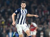 Jay Rodriguez in action for West Bromwich Albion during his side's Premier League clash with Arsenal