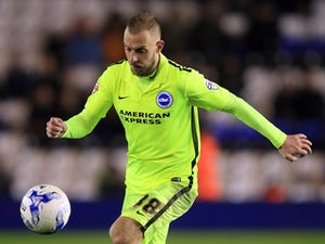 Jiri Skalak in action for Brighton & Hove Albion during a Championship clash with Birmingham City in 2015-16