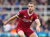 Liverpool captain Jordan Henderson in action during his side's Premier League clash with Newcastle United at St James' Park on October 1, 2017