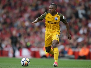 Brighton's Jose Izquierdo in action during his side's Premier League clash with Arsenal at the Emirates Stadium on October 1, 2017
