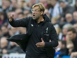 Liverpool manager Jurgen Klopp reacts during his side's Premier League clash with Newcastle United at St James' Park on October 1, 2017