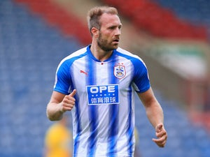 Laurent Depoitre in action for Huddersfield Town during pre-season in 2017