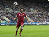 Liverpool attacker Mohamed Salah in action during his side's Premier League clash with Newcastle United at St James' Park on October 1, 2017