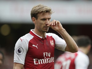 Arsenal defender Nacho Monreal in action during his side's Premier League clash with Brighton & Hove Albion at the Emirates Stadium on October 1, 2017
