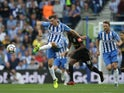 Pascal Gross in action for Brighton & Hove Albion during a Premier League clash with Newcastle United