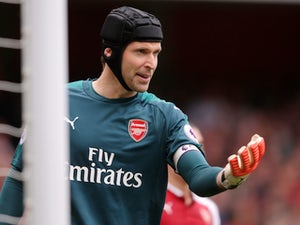Arsenal goalkeeper Petr Cech in action during his side's Premier League clash with Brighton & Hove Albion at the Emirates Stadium on October 1, 2017
