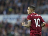 Liverpool midfielder Philippe Coutinho in action during his side's Premier League clash with Newcastle United at St James' Park on October 1, 2017