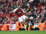 Arsenal full-back Sead Kolasinac in action during his side's Premier League clash with Brighton & Hove Albion at the Emirates Stadium on October 1, 2017