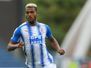 Steve Mounie in action for Huddersfield Town during pre-season in 2017