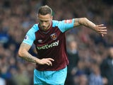 Marko Arnautovic in action for West Ham United in a 2017-18 Premier League match