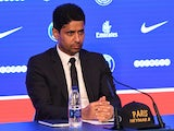 PSG chairman Nasser Al-Khelaifi at the unveiling of Neymar