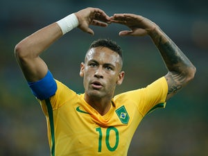 Neymar in action for Brazil at the 2016 Olympic Games