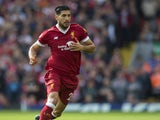 Emre Can in action during the Premier League game between Liverpool and Manchester United on October 14, 2017